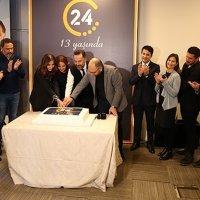 24 TV 13.yayın yılını kutladı...