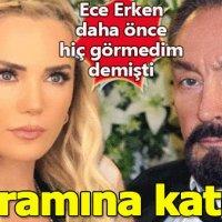 Adnan Oktar'ı daha önce hiç görmediğini söyleyen Ece Erken'in programına katıldığı ortaya çıktı