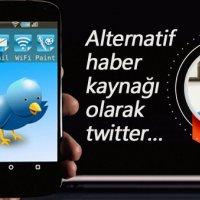 Alternatif haber kaynağı olarak twitter…