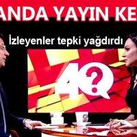 CNN Türk'te Ekrem İmamoğlu konuşurken yayının kesilmesi
