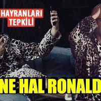 Ronaldo'nun leopar desenli sabahlığı gündem oldu