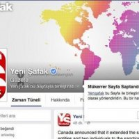 Facebook, Yeni Şafak grubunu eksiltip açtı
