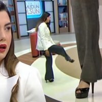 Fulya Öztürk'ün canlı yayında topuklu ayakkabı isyanı!