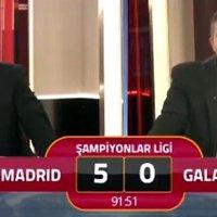 """Galatasaray TV'de ilginç anlar: """"5'e razıydık"""""""