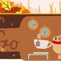 Google'dan 'Sonbahar Ekinoksu' doodle'ı
