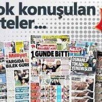 Haftanın, en çok habere konu olan gazeteleri...