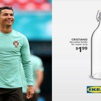 IKEA'dan Ronaldo su şişesi