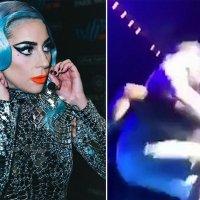 Lady Gaga hayranıyla sahneden düştü!