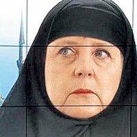O kanal Merkel'e çarşaf giydirdi