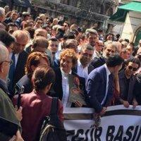"""""""Özgür Basın Susturulamaz"""" yürüyüşü"""