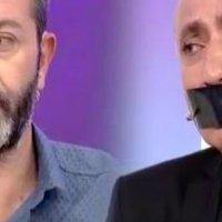 RTÜK protestosu: Ağzını bantladı!
