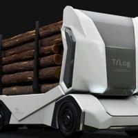 Sürücüsüz kamyon T-log tanıtıldı
