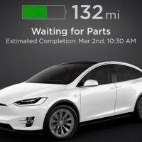Tesla uygulaması tamir sürecini gösterecek