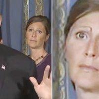Trump'ın arkasındaki kadının kaşları sosyal medyanın gündeminde