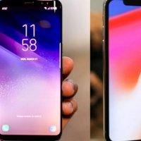 iPhone X ve Galaxy S8 kıyaslaması