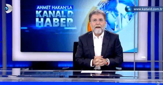 Ahmet Hakan Kanal D Haber stüdyosunda