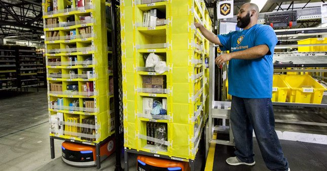 Amazon robot sayısını artırıyor