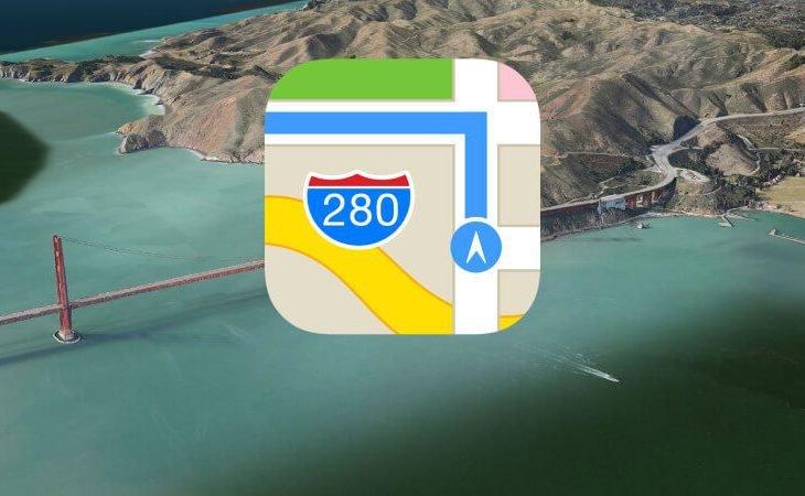 Apple haritaları web sitelerinde