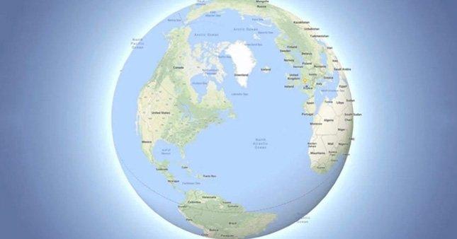 Dünya artık Google Maps'te de yuvarlak