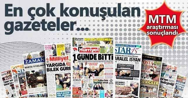 En çok konuşulan gazete Hürriyet
