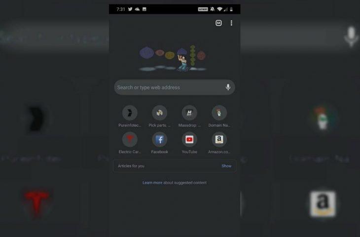 Karanlık modlu Chrome 78 özellikleri