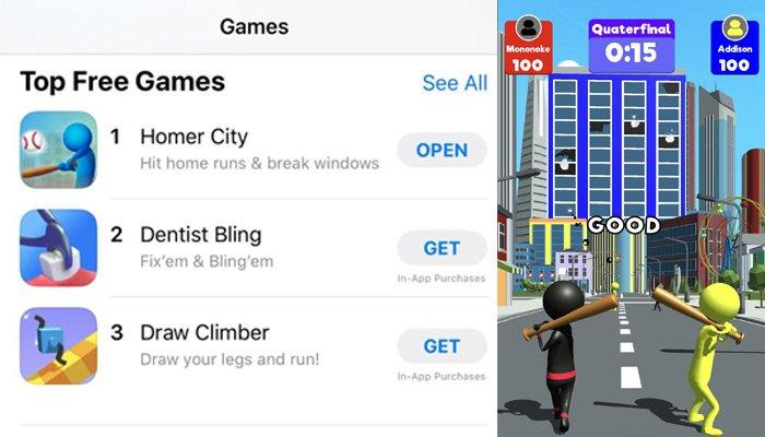 Mynet Funpac'in oyunu Homer City, Amerika App Store'da bir numara