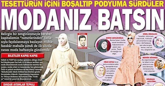 0e8b6f44a8e32 Vahdet Gazetesi 13-14 Mayıs'ta düzenlenecek olan Muhafazakar Moda Haftası  ile ilgili tepkileri toplayarak bir haber yayınladı.