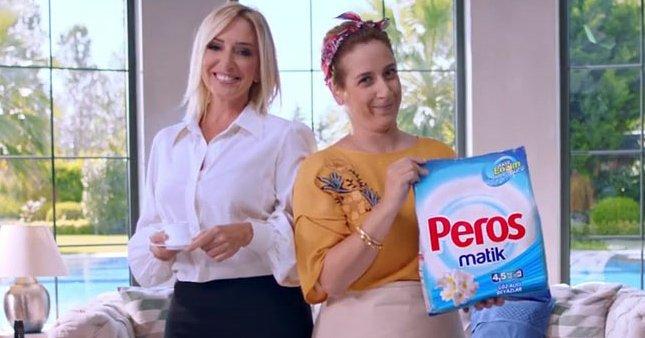 Peros'un reklam yüzü Saba Tümer