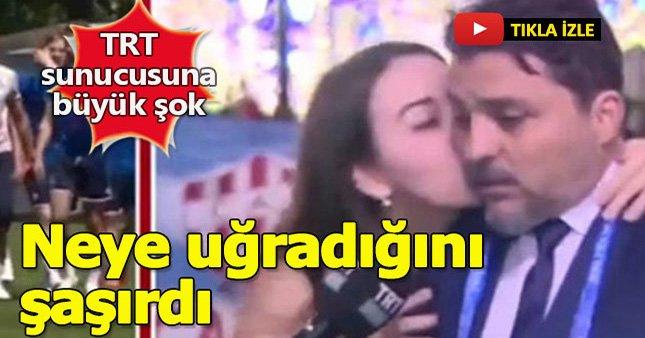TRT sunucusuna canlı yayında büyük şok