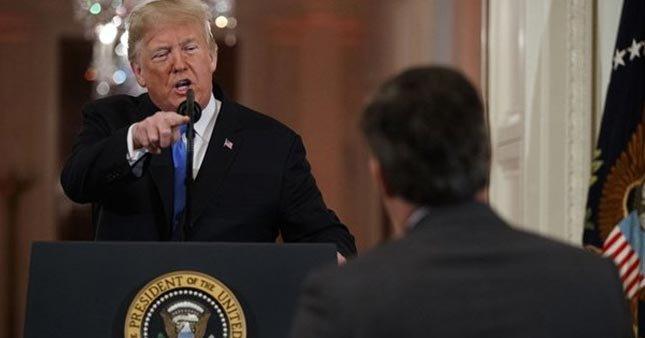 Trump, CNN muhabirine sert çıkıştı