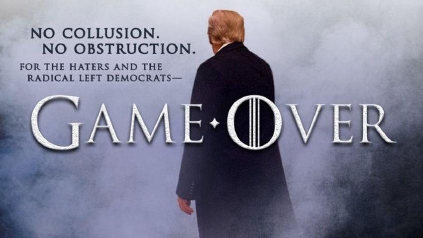 """Trump'tan Game of Thrones'lu gönderme! """"Oyun bitti..."""""""