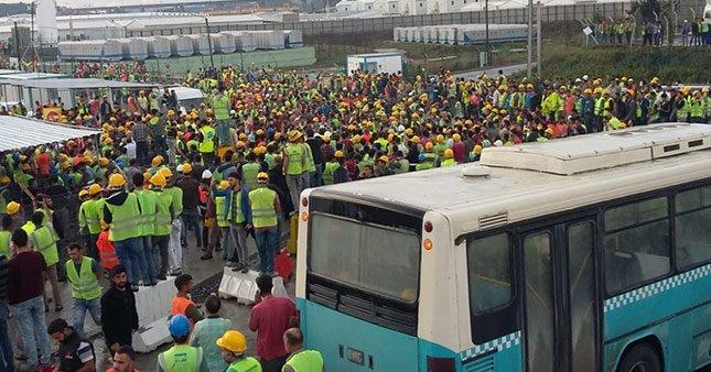 Üçüncü havalimanı işçileri eylem başlattı