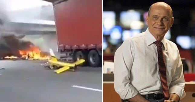 Ünlü sunucu helikopter kazasında öldü