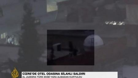 Al Jazeera ekibinin oteline silahlı saldırı