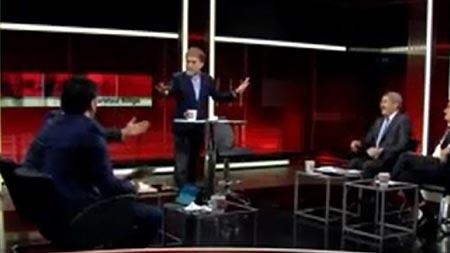 CNN Türk'te Ahmet Hakan'ı çıldırtan kavga!