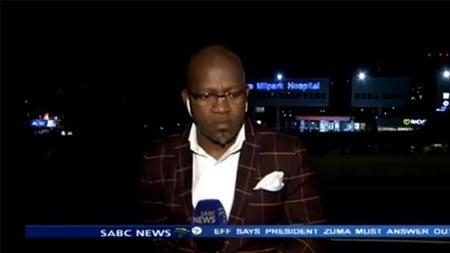 Muhabir canlı yayında soyguna uğradı