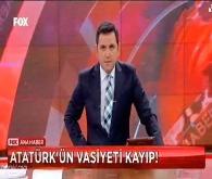 Atatürk'ün vasiyetini kaybettiysek yuh olsun bize..