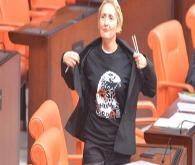 CHP'li vekil kürsüye çArşı tişörtüyle çıktı