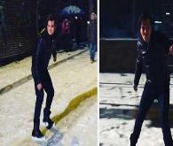 Çağatay'ın kar videosu Instagram'ı salladı
