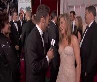 Canlı yayında Jennifer Aniston'a taciz