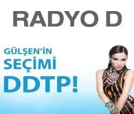 """Radyo D'nin seçim temalı reklamında, """"Gülşen'in seçimi Deli Dolu Türkçe Pop yani DDTP"""" şeklinde bir slogan yer alıyor."""