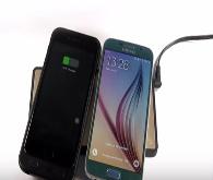 İki cihazı aynı anda şarj eden kablosuz şarj cihazı